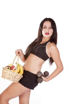 Fitness Fruit Weight Lean Back Stock Images