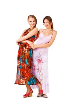Free Charming Young Girls In Colorful Dress Stock Photos - 16693813