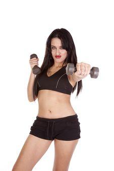 Woman Workout Weights Stock Photos