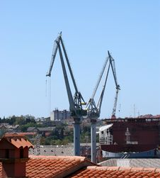 Free Marine Cargo Port. Cranes. Croatia Stock Photography - 16694622