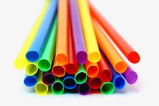 Free Colored Straws Royalty Free Stock Image - 16694816