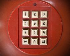 Free Old White Telephone Key Stock Photos - 16695193