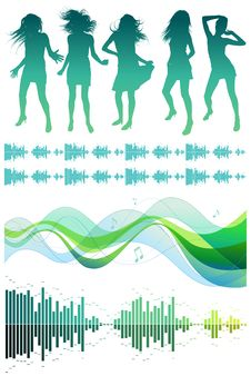 Musical Design Elements Stock Photo