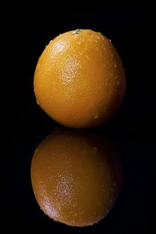 Free Fresh Orange With Water Drops Stock Photo - 16695670