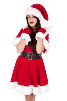 Free Mrs Santa Dark Hair Smile Look Stock Images - 16695694