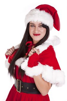 Free Mrs Santa Dark Hair Smile Stock Image - 16695711