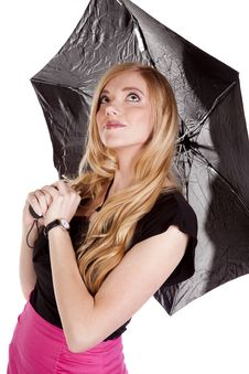 Free Umbrella Pink Skirt Look Up Royalty Free Stock Photo - 16695815