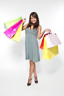 Free Woman With Shoppingbag Royalty Free Stock Photos - 16695858