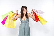 Free Woman With Shoppingbag Royalty Free Stock Photography - 16696057