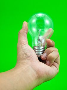 Free Lightbulb In Hand Royalty Free Stock Image - 16696076