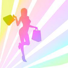 Free Happy Shopping Girl Stock Photos - 16696193