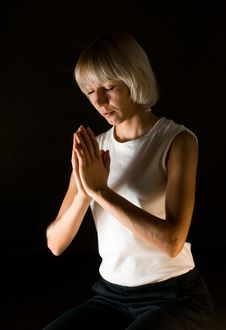 Woman Praying Stock Photography