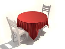 Free Table And Chairs Royalty Free Stock Photo - 16697335
