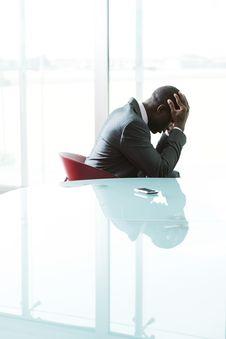 Free Depressed Businessman Royalty Free Stock Images - 16697359