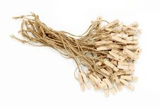 Free Wooded Clothespins Royalty Free Stock Images - 16697549
