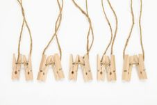 Free Wooden Clothespins Royalty Free Stock Image - 16697566