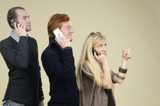Free Young Team Communicating Royalty Free Stock Images - 16698379