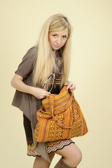 Free Woman Searching In Bag Stock Photos - 16698423
