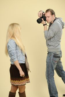 Free Young Photographer Working Stock Images - 16698514