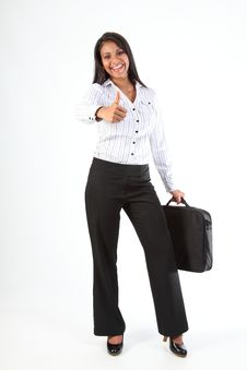 Free Business Woman Thumbs Up For Success And Fun Stock Photo - 16698680