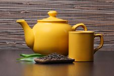 Free Green Tea And Teapot Royalty Free Stock Photography - 16699027