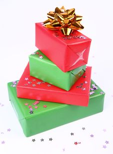 Pile Of Gifts Stock Images