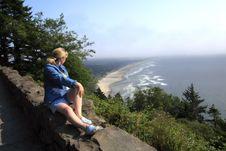 Free Looking At The Coastline, Oregon. Stock Photos - 16699403