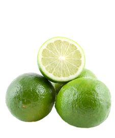 Stacked Limes Stock Image