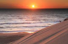 Free Sunset On French Atlantic Coast Stock Image - 16699881