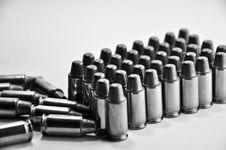 Free Bullet 11mm. B&W Royalty Free Stock Photos - 16699988