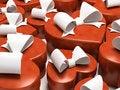 Free Many Gift Boxes-sweethearts Isolated On White Background Stock Image - 1672991