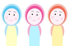 Free Veiled Girl Colors Stock Image - 1670751