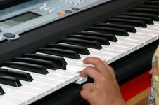Free Playing The Piano Royalty Free Stock Image - 1671146