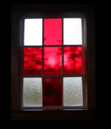 Free Red Stained Glass Window Royalty Free Stock Image - 1672076