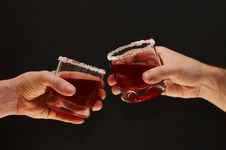 Free Toast With Cherry Brandy Royalty Free Stock Image - 1673796