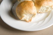 Free White Bread Buns Royalty Free Stock Photo - 1674085