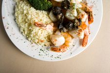 Free Steak, Shrimps And Rice Stock Images - 1674094