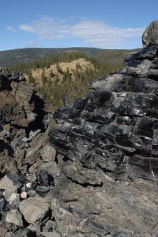 Free Big Obsidian Flow Royalty Free Stock Image - 1674976
