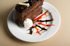 Free Slice Of Chocolate Cake Royalty Free Stock Image - 1675226