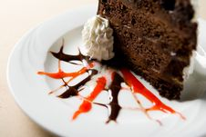 Free Slice Of Chocolate Cake Royalty Free Stock Photo - 1675245