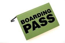 Free Book With Boarding Pass Inscription Royalty Free Stock Images - 1675639