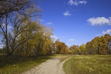 Free Road In Autumn Park Stock Photo - 1675660
