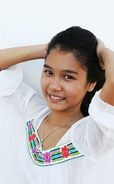 Beautiful Thai Girl Stock Photography