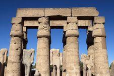Karnak Temple Statues Stock Image