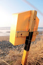 Free Lifebuoy Box On An Irish Beach Stock Images - 16707144