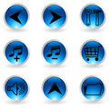 Free Set Of Musical Buttons Royalty Free Stock Photography - 16708487