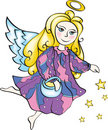 Free Christmas Angel With Stars Stock Photography - 16709692