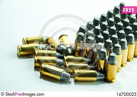 Bullet 11mm. Stock Photo