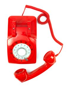 Free Red Phone Handset Royalty Free Stock Photos - 16700008