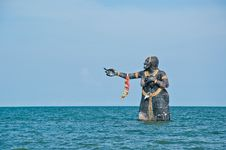 Free Sculptures In Sea Royalty Free Stock Image - 16700286